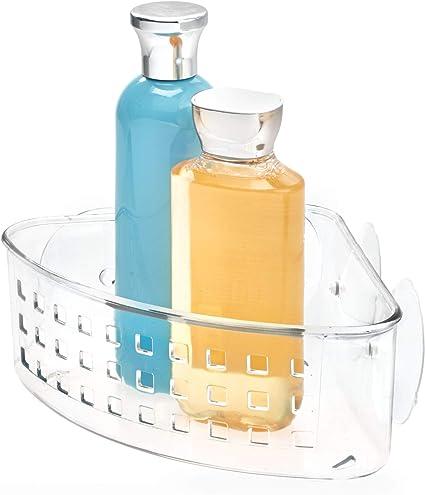 Idesign Duschablage Mit Saugnapf Kleiner Duschkorb Ohne Bohren Aus Kunststoff,