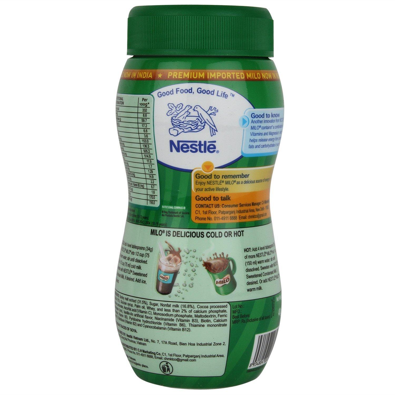 Nestle Milo Malteada de chocolate 400 g: Amazon.es: Alimentación y bebidas