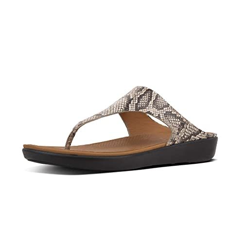 544b00d5dc0e Fitflop Banda II Ladies Leather Toe Post Sandals Taupe Snake  Amazon.co.uk   Shoes   Bags