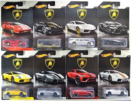 Hot Wheels Set 8 Coches Coleccion Lamborghini: Amazon.es: Juguetes y juegos