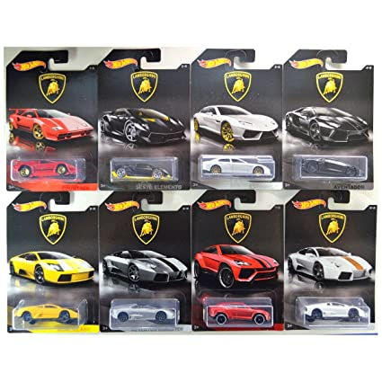 Amazon Com Hot Wheels 2017 Lamborghini Bundle Of 8 Die Cast
