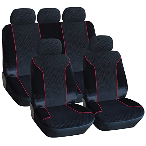 Swell Amazon Com Adeco 9 Piece Velvet Car Vehicle Protective Seat Pabps2019 Chair Design Images Pabps2019Com