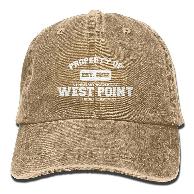 cap lop Military Base Property of West Point Veteran Men   Women Retro  Adjustable Denim Cap Trucker Hat Natural  Amazon.ca  Clothing   Accessories 51eaa39a14