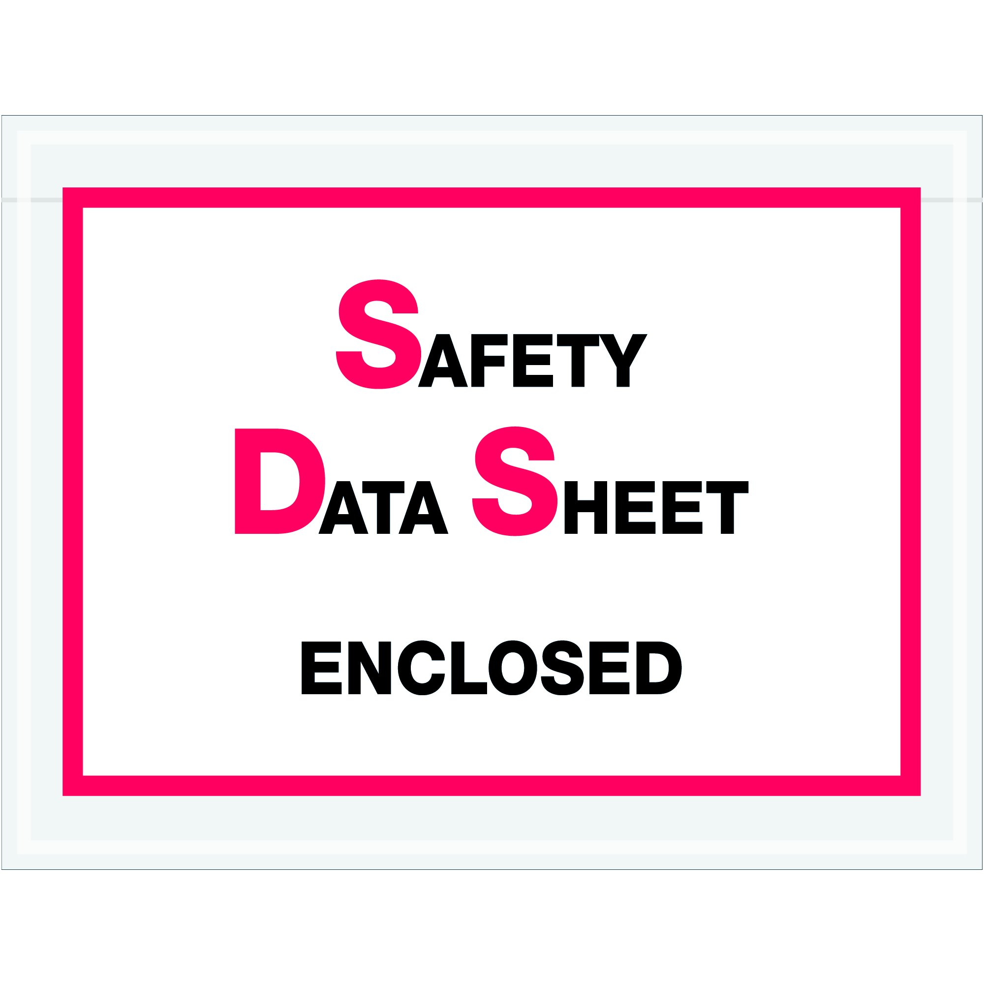 Tape Logic TLPL495''Safety Data Sheet Enclosed'' SDS Envelopes, 6 1/2'' x 5'', Printed Clear (Pack of 1000) by Tape Logic
