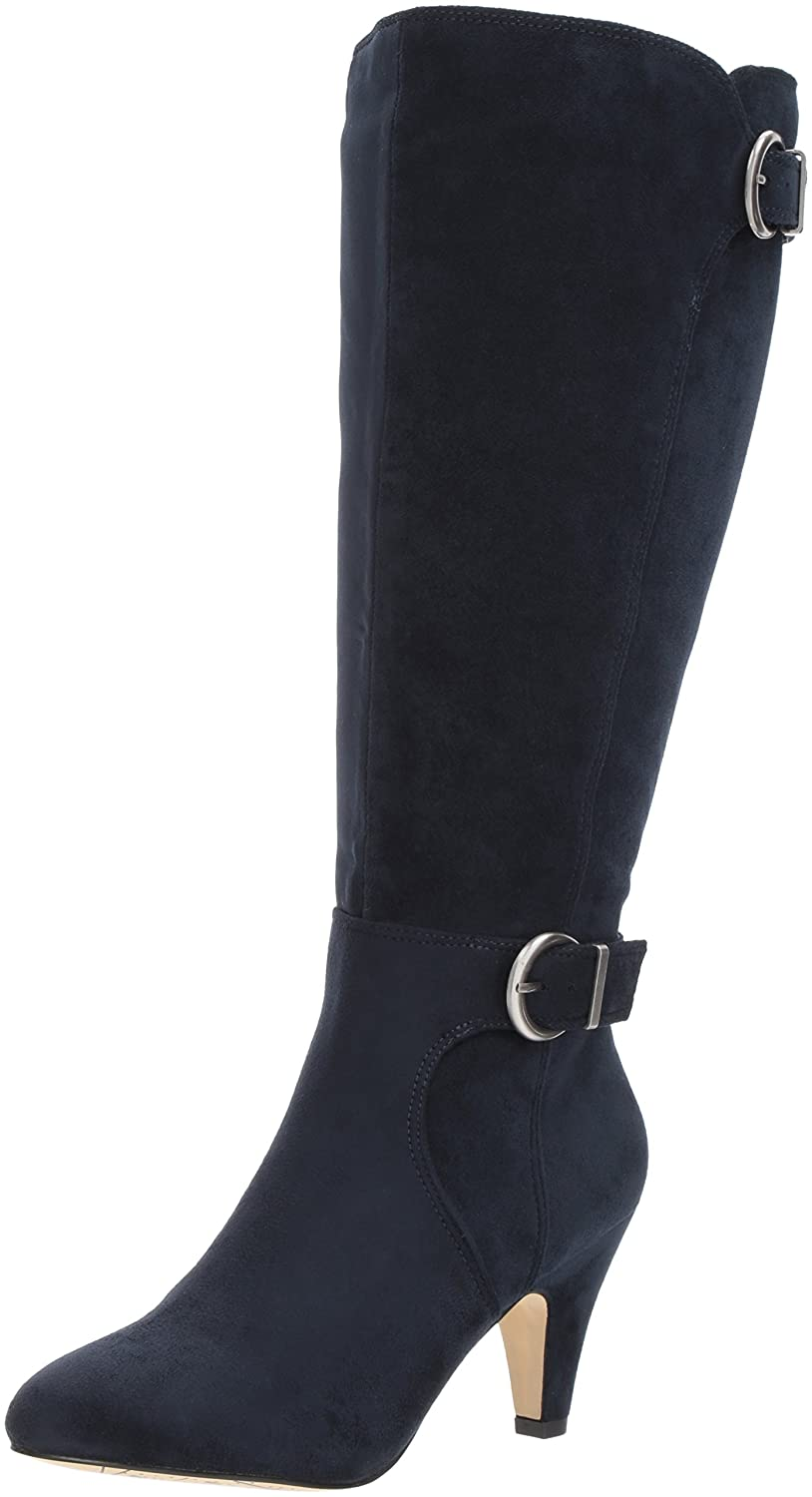 Bella Vita Women's Toni Ii Plus Harness Boot B06ZY83JYB 12 B(M) US|Navy Super Suede