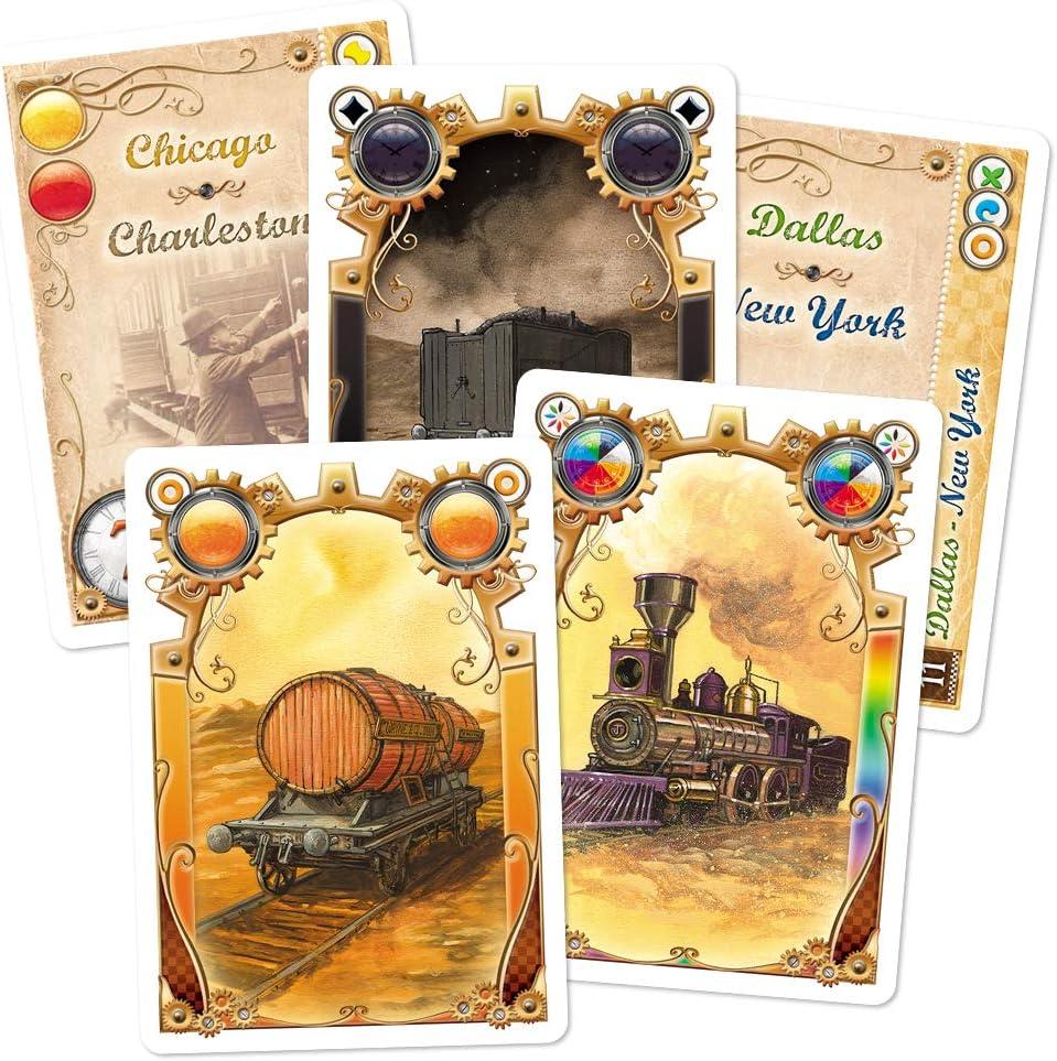 Days of Wonder Aventureros al Tren. Juego de Cartas: Amazon.es ...