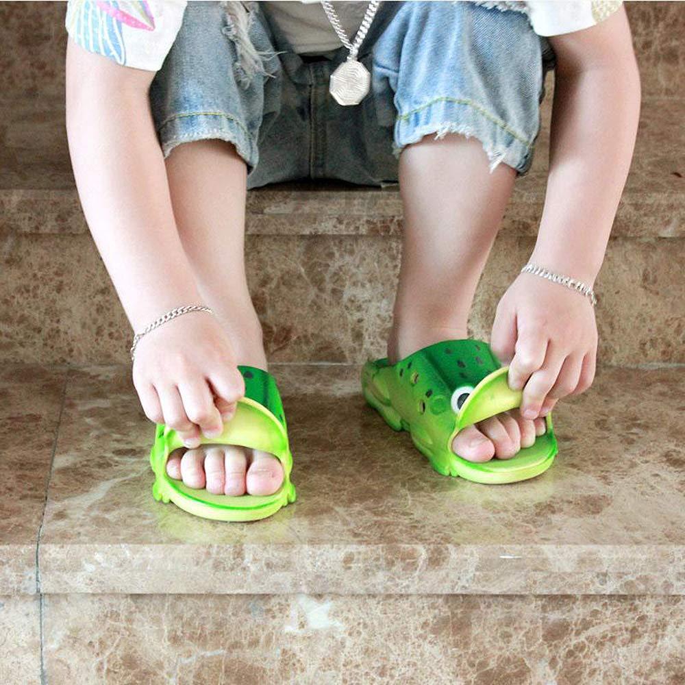 Kemosen Children Clogs Frog Kids Sandals Slipper Ultra-Soft Cartoon Cute Garden Shoes for Toddler Little and Big Kid