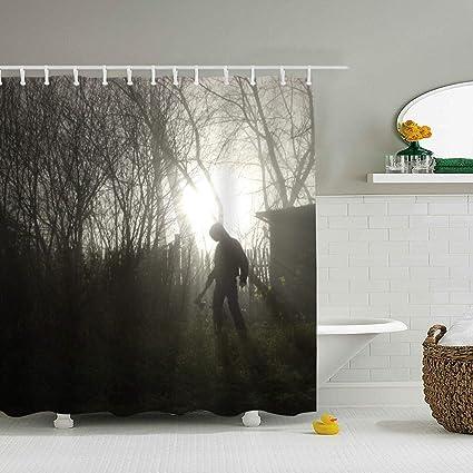 Amazon Fornate Dark Creepy Shower Curtain Waterproof Mildew