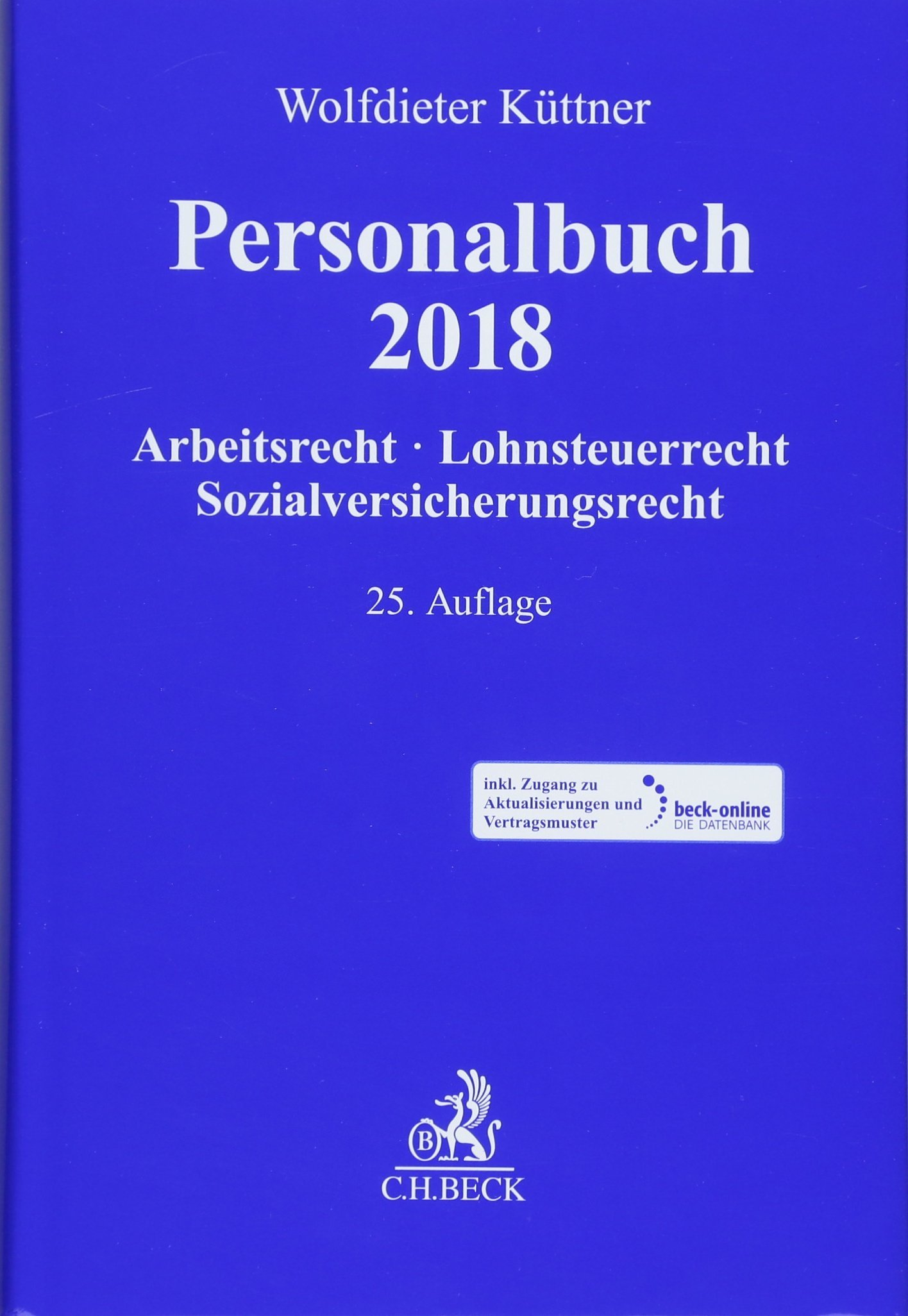 Personalbuch 2018 Arbeitsrecht Lohnsteuerrecht Jürgen Röller