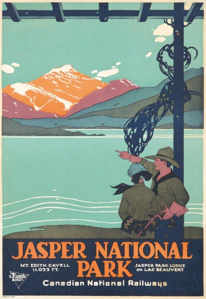 ジャスパー国立公園ヴィンテージポスター(アーティスト:匿名)カナダC。1927 9 x 12 Art Print LANT-73871-9x12 B01DQ0OEV6  9 x 12 Art Print