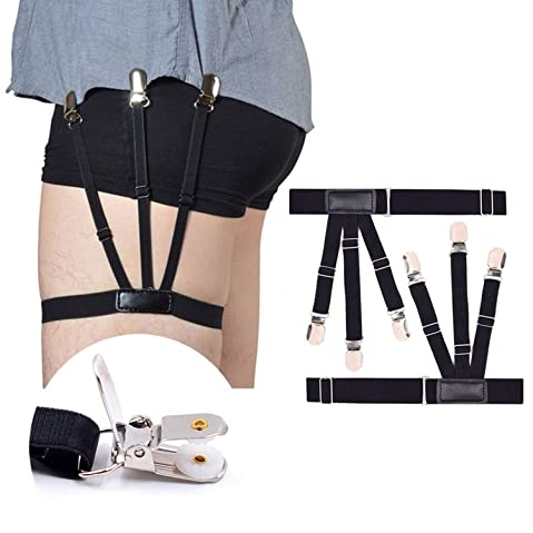 Men's Suspenders Men's Accessories Fashion Elastic Adjustable Legs Belts Suspenders For Men Shirt Holders Suspenders Mens Clothes Accessories Complete Range Of Articles