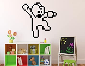 Mega Man Pixels Wall Decal Video Game Wall Vinyl Sticker Retro Game Home  Interior Children Kids