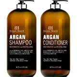 BOTANIC HEARTH Argan Oil Shampoo and Conditioner Set - with Keratin, Restorative & Moisturizing, Sulfate Free - All Hair Type