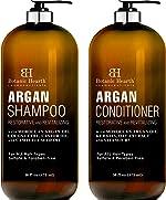 BOTANIC HEARTH Argan Oil Shampoo and Conditioner Set - with Keratin,