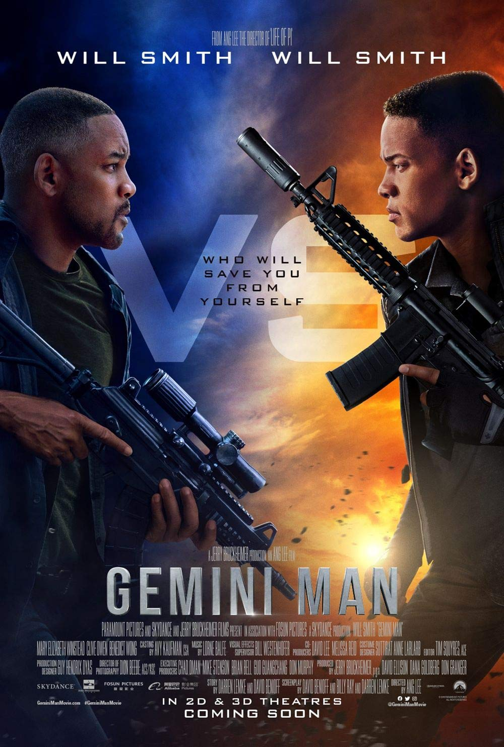 Lionbeen Gemini Man - Movie Poster - Cartel de la Pelicula ...