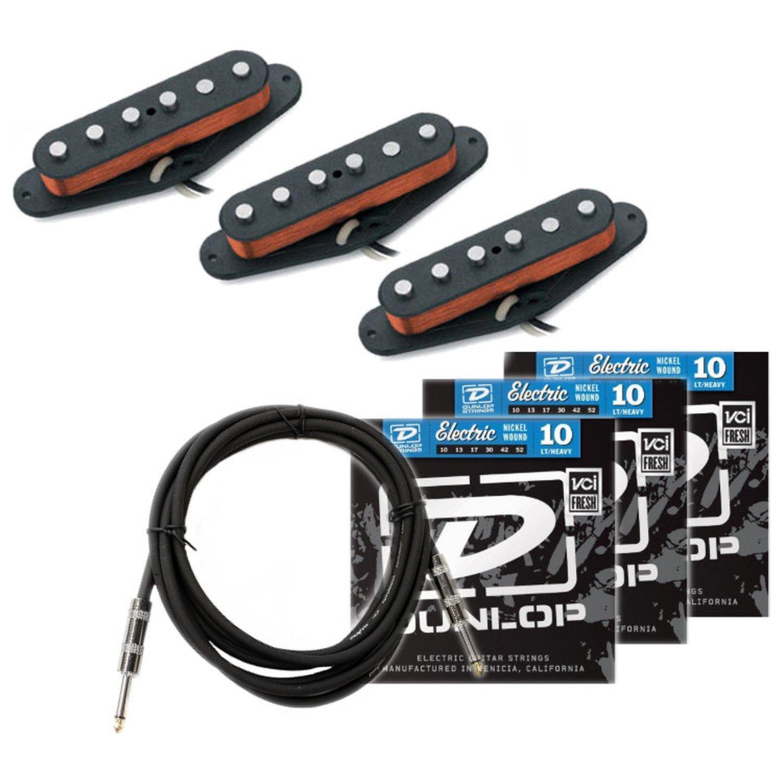 Seymour Duncan California '50s Pickup Set (SSL-1) w/ 3 Sets of Strings and Cable SSL-1 Pickup Set BUNDLE