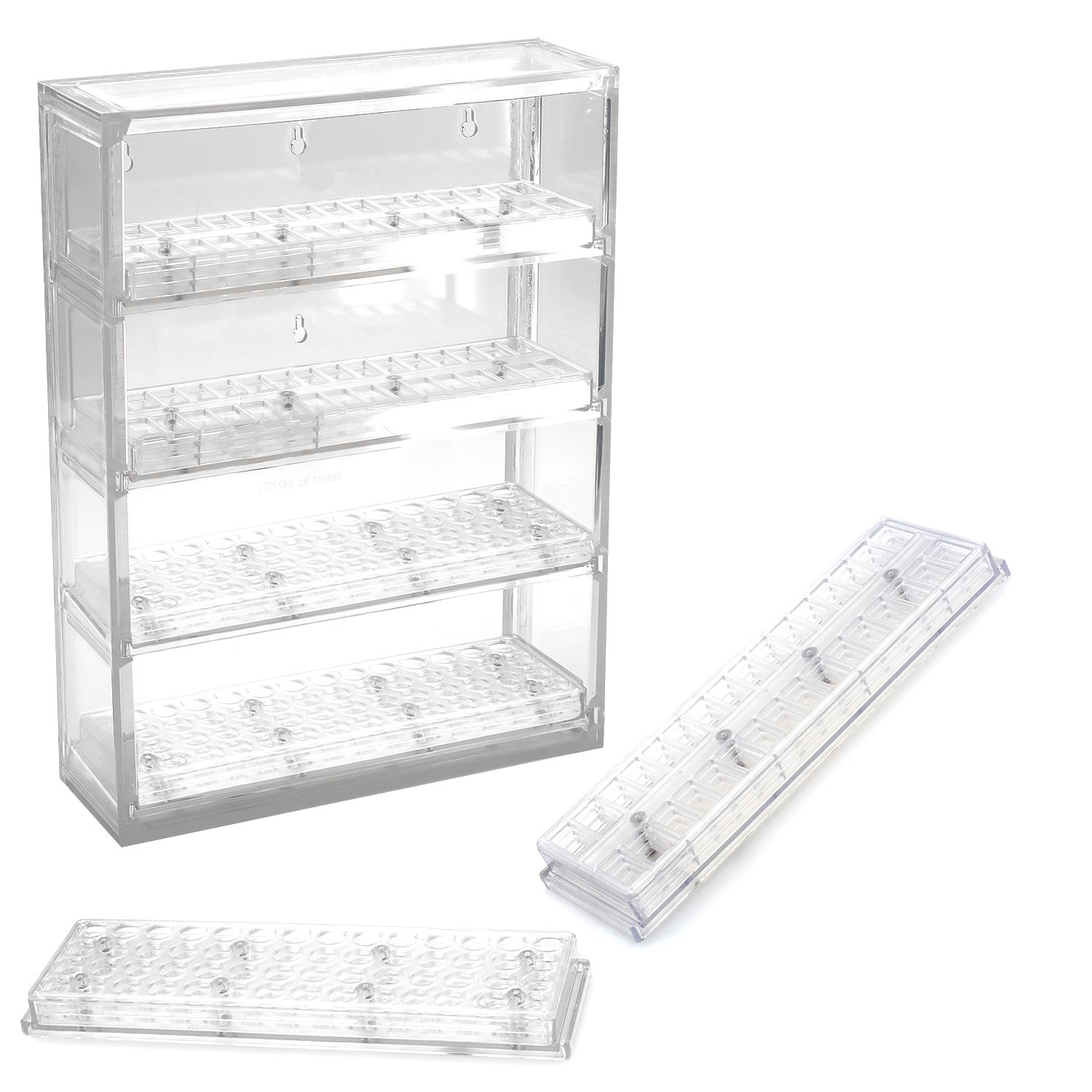 Bead Pavilion Showcase with 2 Round and 2 Flip Top Shelves by Sova