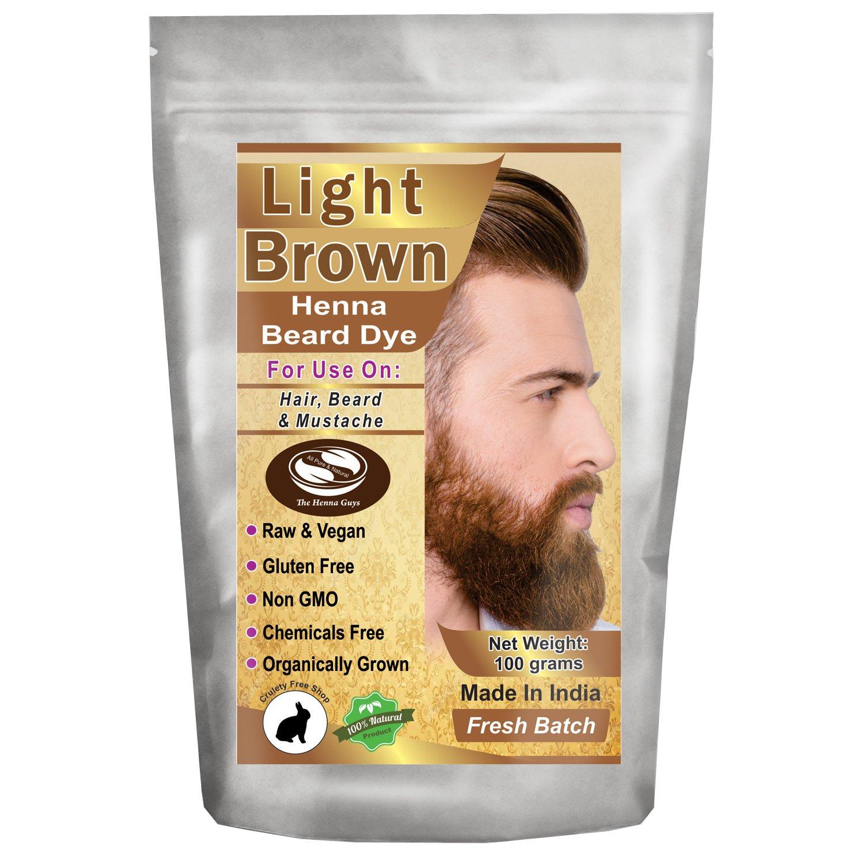 1 Pack of Light Brown Henna Beard Dye for Men - 100% Natural & Chemical Free Dye for Hair, Beard & Mustache - The Henna Guys by The Henna Guys