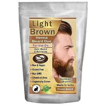 Amazon Com 1 Pack Of Light Brown Henna Beard Dye For Men 100