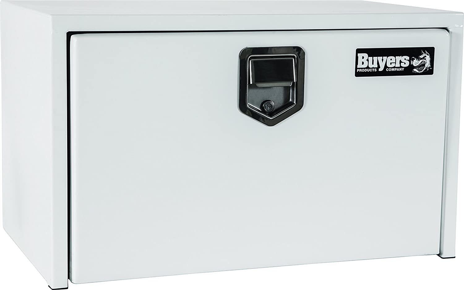 Buyers Products White Steel Underbody Truck Box w// Paddle Latch 18x18x48 Inch