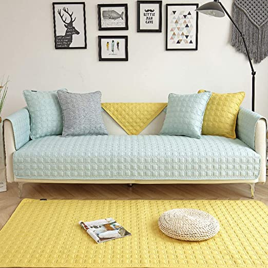 DJHYT Fundas para Sofa,Funda de sofá de algodón a Cuadros ...
