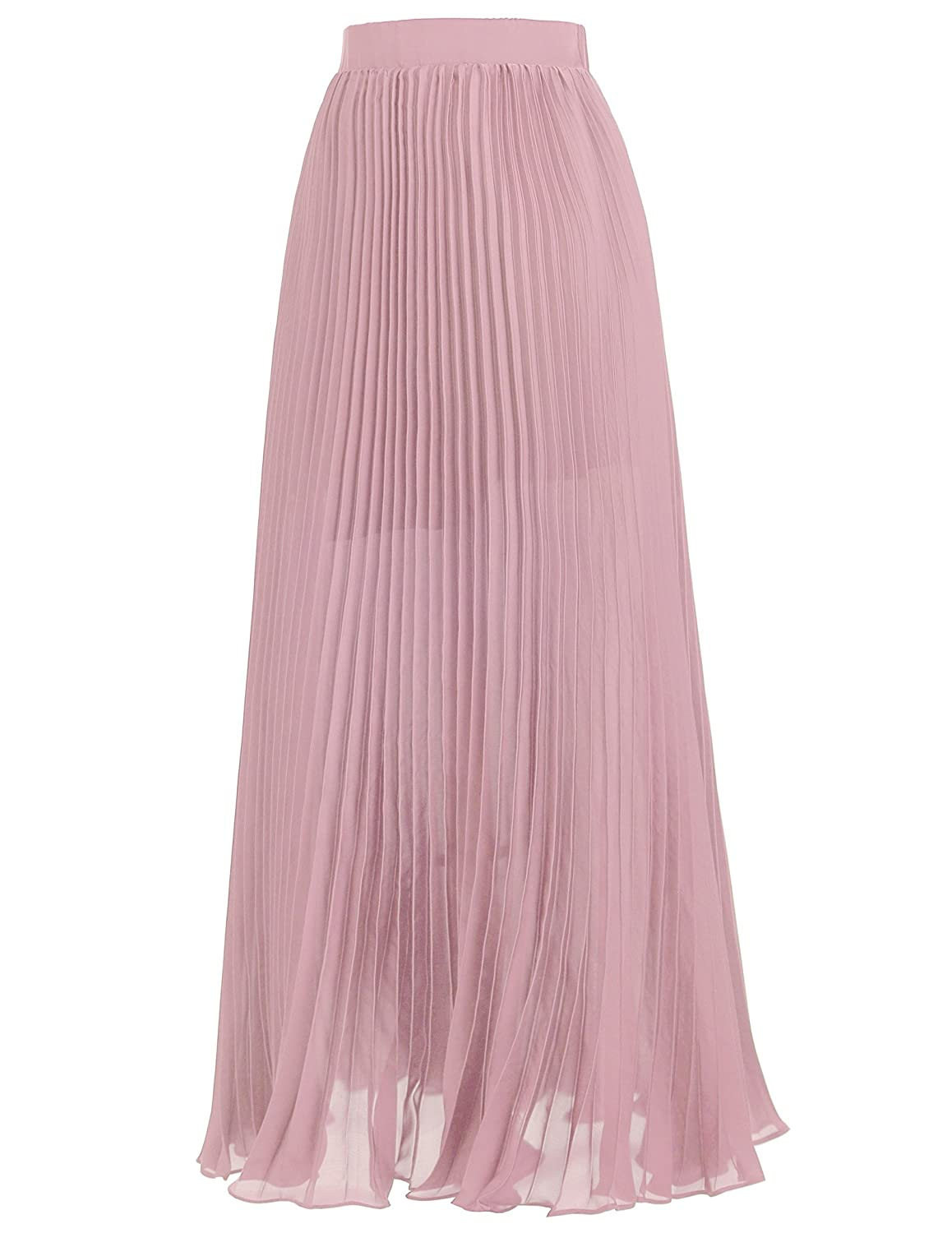 6250be60f63e Kate Kasin Women Ankle Length Pink Pleated Skirts for Bridal Shower Size S  KK614-2 at Amazon Women's Clothing store: