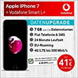 Apple iPhone 7 (Schwarz) mit 32 GB internem Speicher, Vodafone Smart L+ inkl. 7GB Highspeed Volumen mit Max 500 Mbits, inkl. Telefonie- und SMS Flat, EU-Roaming, 24 Monate Min. Laufzeit, mtl. € 41,99