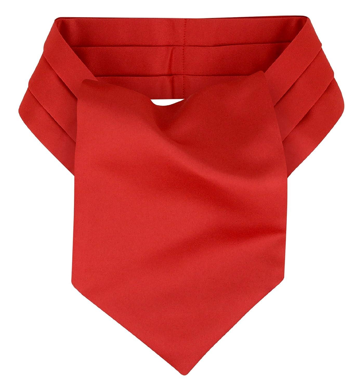 19th century Necktie Victorian style Man/'s RED CHECKED cotton Cravat NEW