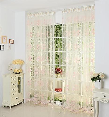 Tende ricamate di lino tende bianchi per soggiorno per tende di ...