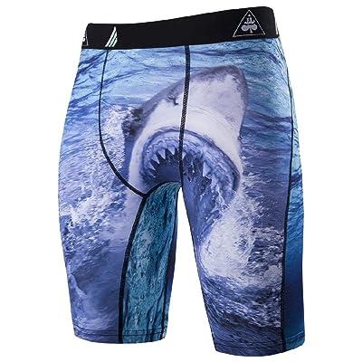 Comfy Men's Tights Quick Dry Breathable 3d Digital Print Midi Shorts
