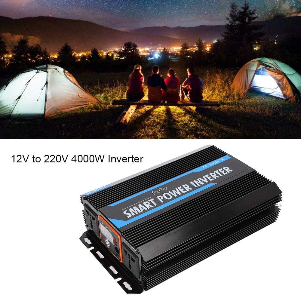 12V bis 220V Reiner Sinus Wechselrichter mit USB-Netzteil Auto Wechselrichter f/ür Camping Outdoor Stromversorgung EBTOOLS 5000W Stromrichter