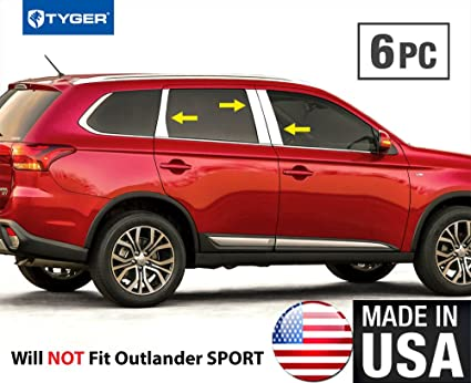 Tyger Auto Made In USA!! Works With 2014 2018 Mitsubishi Outlander  Stainless Steel