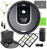 iRobot Roomba 960 Robotic Vacuum Cleaner Wi-Fi Connectivity + Manufacturer's Warranty + Extra Sidebrush Extra Filter Bundle (R960 + 1-Extra Filter and 1-Extra Sidebrush)