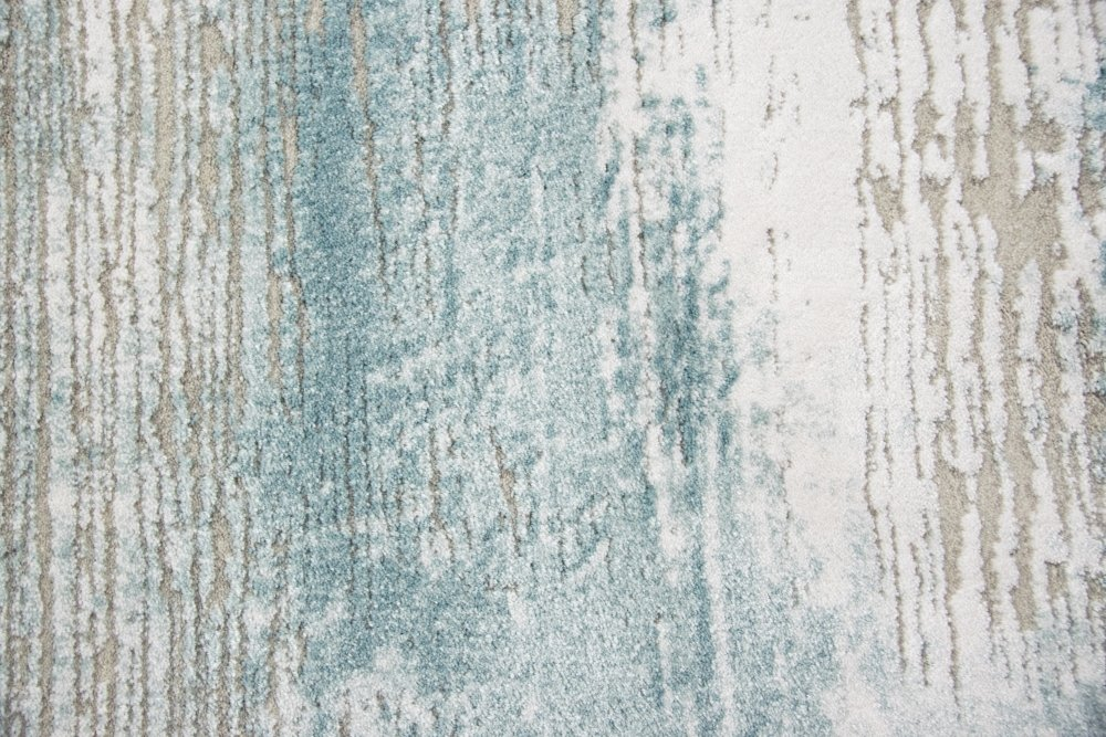 Carpetia Moderner Teppich Teppich Teppich Wollteppich Vintage Used-Look mit Fransen blau türkis Creme beige Größe 120x170 cm a05fb1