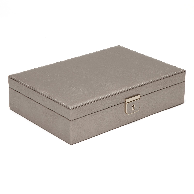 WOLF 213278 Palermo Medium Jewelry Box, Pewter