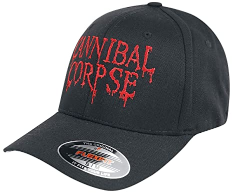 Cannibal Corpse Dripping Logo - Flexfit Cap Cap Black S-M  Amazon.co ... 60846fd86869