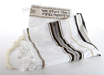 Manto de oración de acrílico judío tradicional Talit hecho en Israel 130 / 180cm