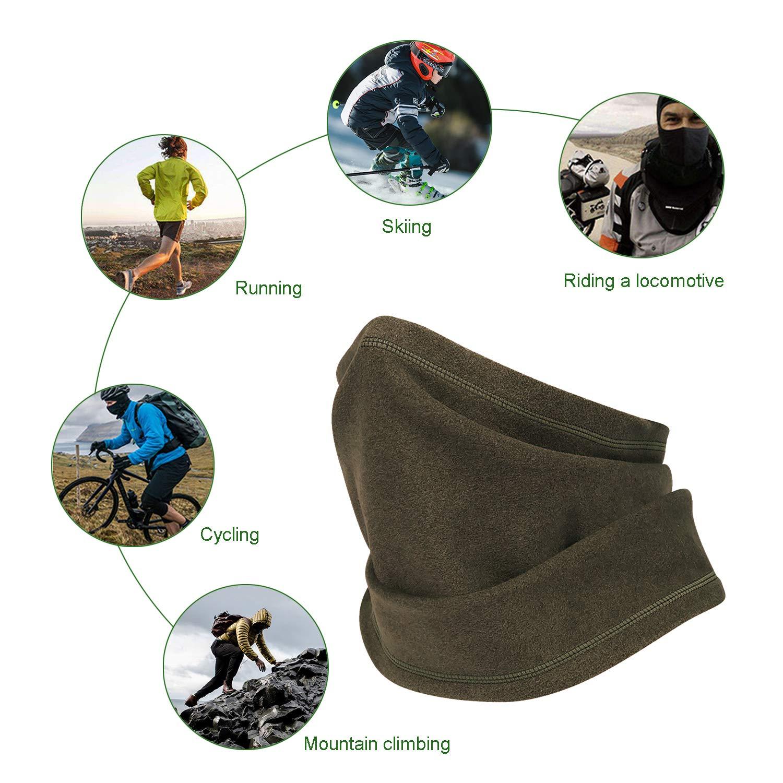 Schlauchschals,Polar Fleece,Multifunktions Loop Schal M/ütze zum Motorrad,Ski,Fahrradfahren,Joggen im Winter. Unisex Halstuch