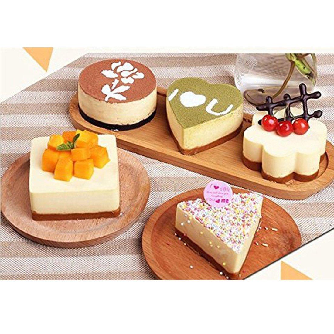 Amazon.com: eDealMax acero inoxidable DIY Pequeño Mousse Anillo Lamy Cheese Cake herramientas de moldeo del molde de alimentos (5 en 1): Kitchen & Dining
