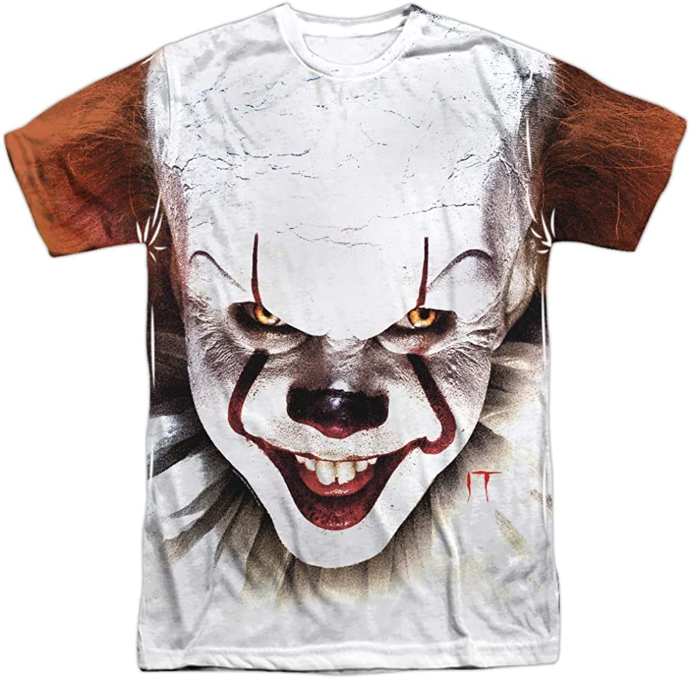 It Pennywise at Large Unisex Adult Front Only Sublimated T Shirt for Men and Women