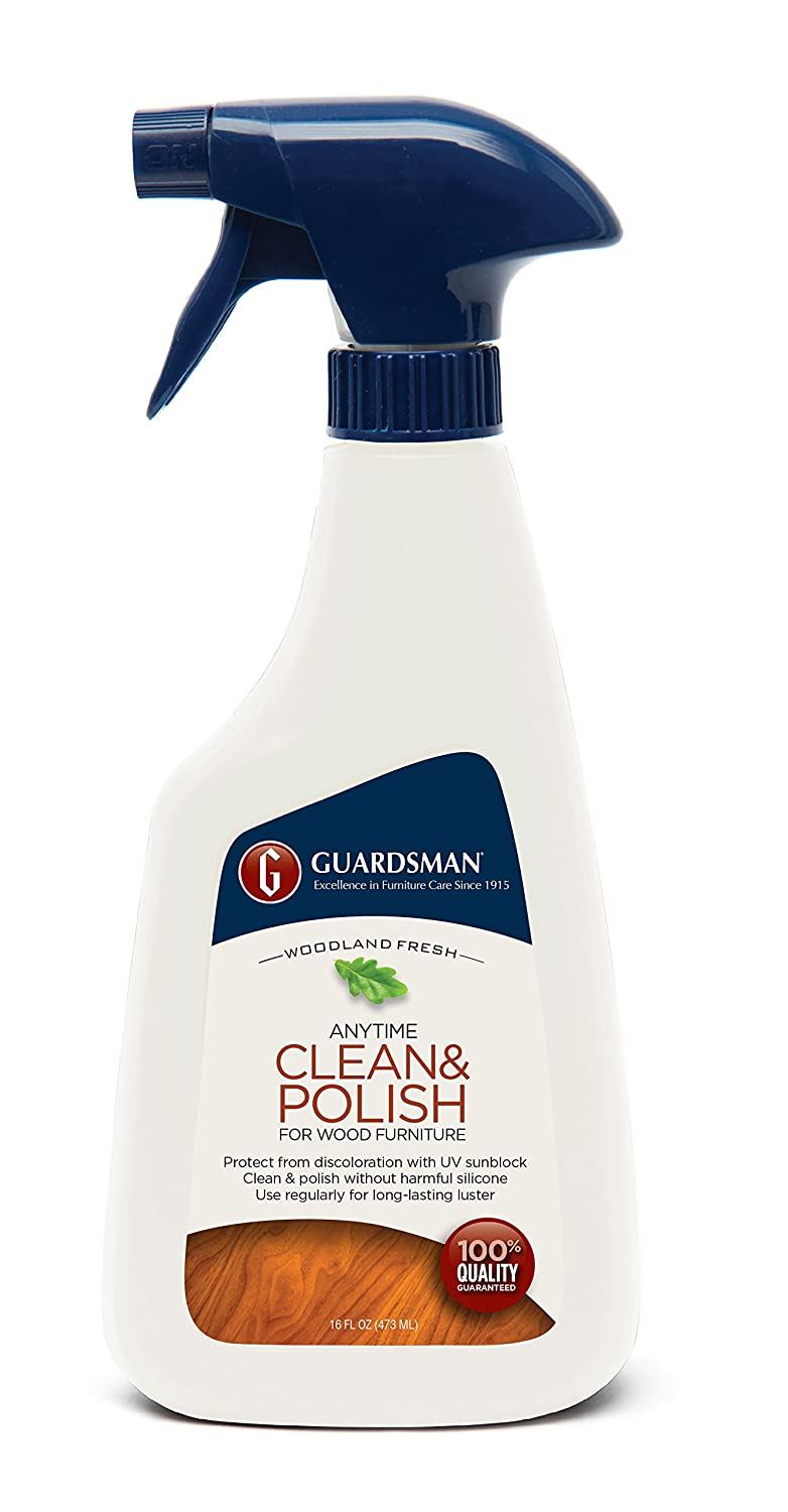 Guardsman Clean & Polish For Wood Furniture - Woodland Fresh - 16 oz Spray - Silicone Free, UV Protection - 461100