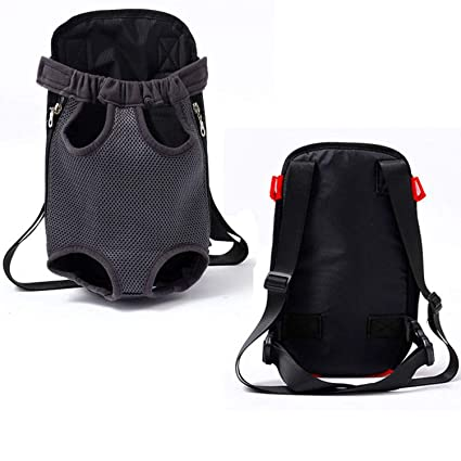 bd1b08d8f3f6 Amazon.com : LIAOYLY Pet Dog Outdoor Carrier Bag Five Holes Backpack ...