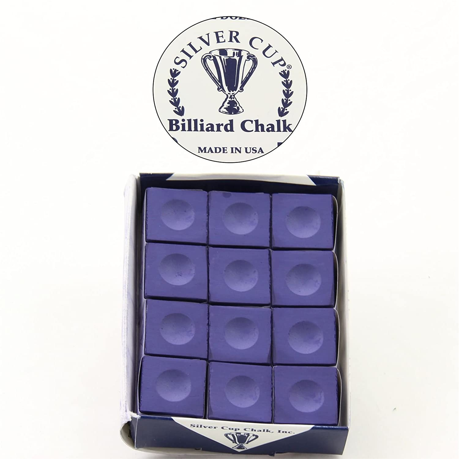 12 blocks - 1 x box of high quality sliver cup Purple chalks, Silver cup