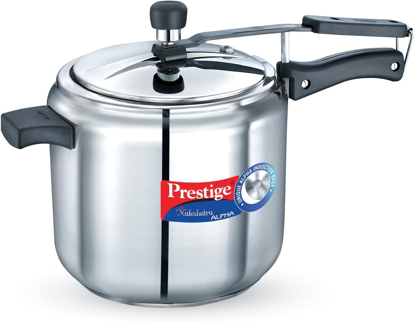 Prestige Nakshatra Alpha Stainless Steel Pressure Cooker, 7 Litres