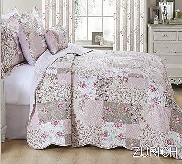 THL - Parure de lit en 3 pièces, couvre-lit