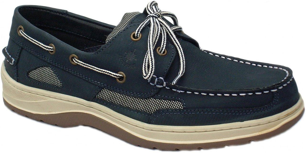 BluePort Herren Nubukleder Bootsschuh Offshore