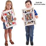 Jumbo Playing Cards - 10.5 x 14.5 Inches Full Deck Huge Poker Index Playing Cards Fun for All Ages!