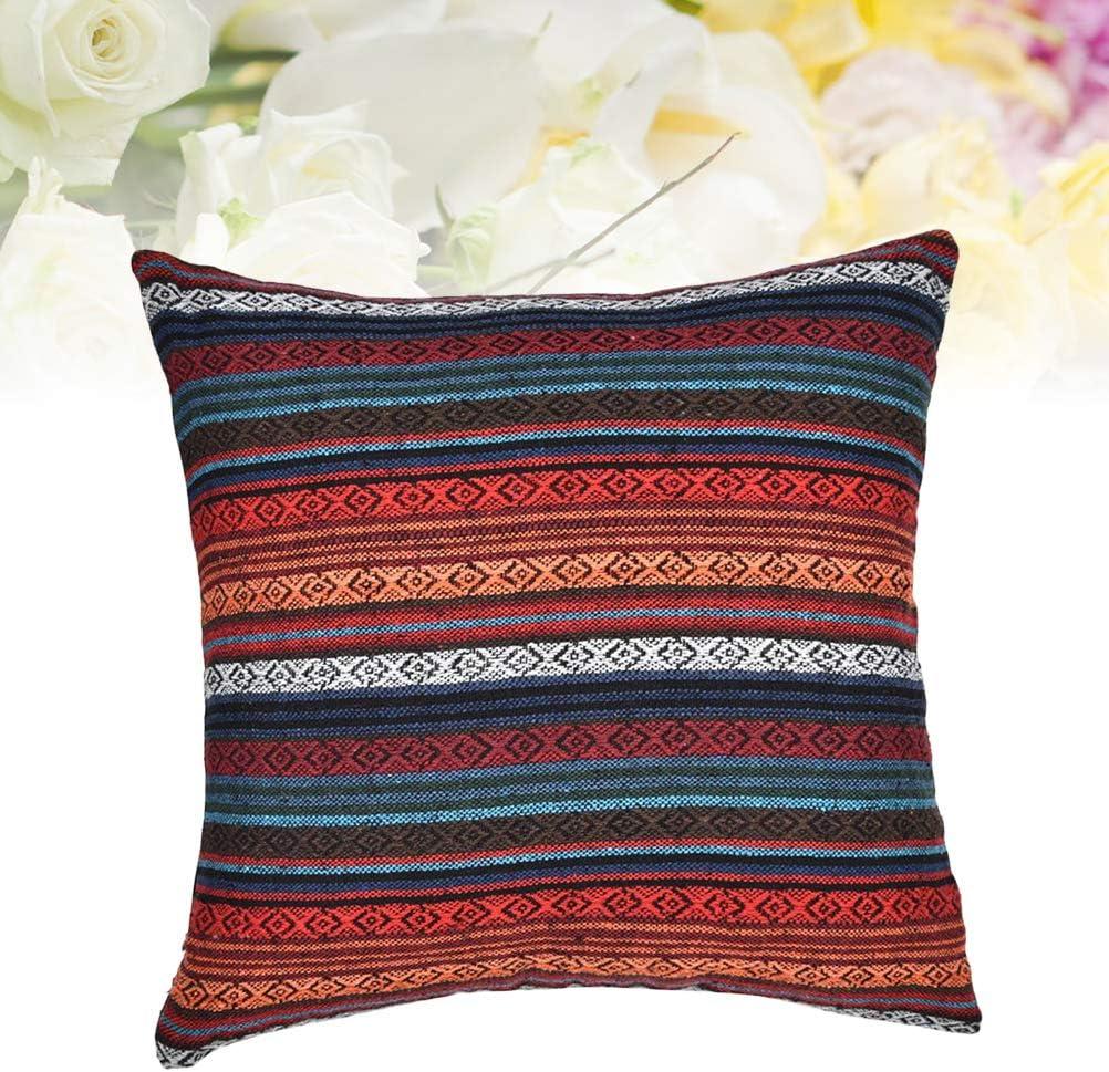Throw Pillow Cover Funda de Almohada Raya Funda de cojín Funda de Almohada Vintage Estilo étnico Funda de Almohada 45x45cm: Amazon.es: Hogar