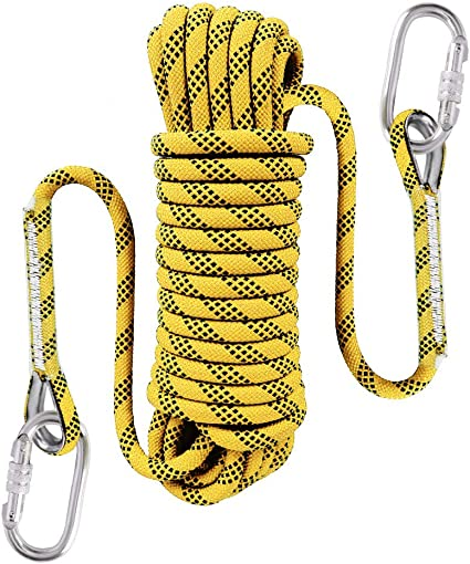 Optional High Strength Cord Safety Rope 10M 3//8 in 32ft Outdoor Static Rock Climbing Rope,10 mm Diameter 20M 64ft