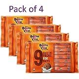BOURNVITA Biscuits Crunchy Cookies Tiffin, 9 Packs, 250g - Pack of 4
